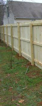 Spartanburg SC wood privacy fence